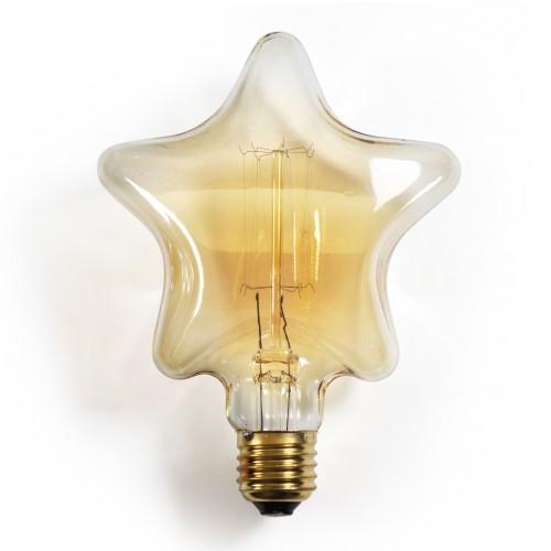 star shaped lighting. Star Shaped Edison Light Bulb Lighting